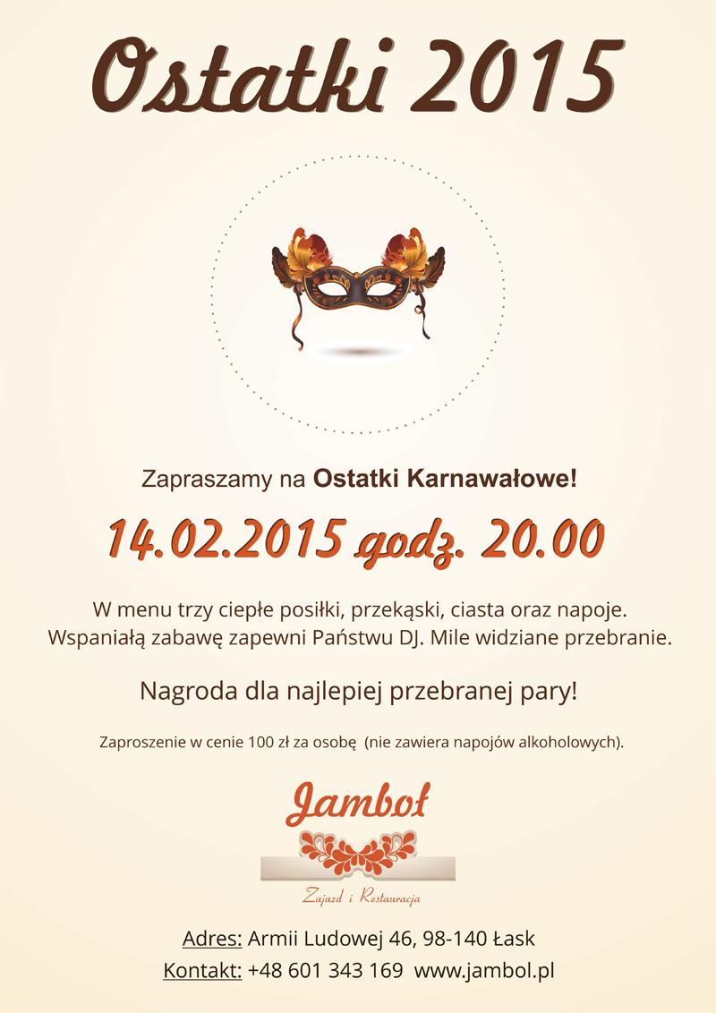 Bal Karnawałowy 2015 Zajazd I Restauracja Jamboł Na Trasie łask